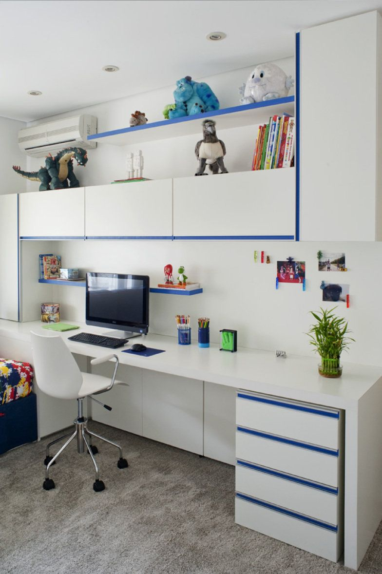 6 bancadas de estudos para quartos de crianças e  ~ Bancada Planejada Para Quarto