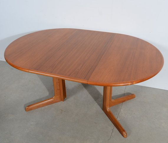 Danish Modern Round Teak Dining Table Teak Pedestal Table Gudme Mobler Teak Dining Table Dining Table Modern Round