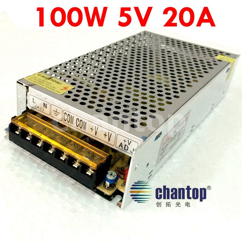 free ship AC110V -220V TO DC 5V 20A 100W DC transformer