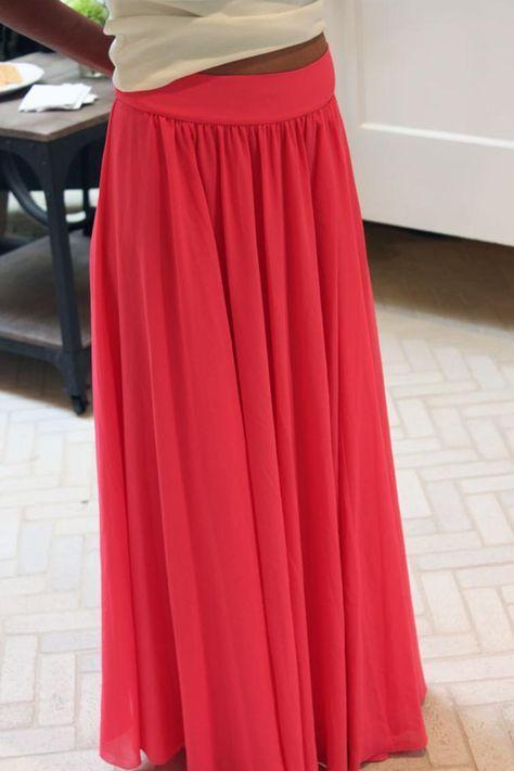 Silk Chiffon Maxi Skirt | Nähen | Pinterest | Sewing, Diy maxi skirt ...