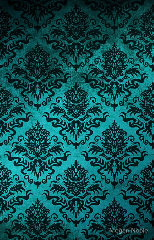 Teal Damask Iphone Case By Megan Noble In 2020 Teal Wallpaper