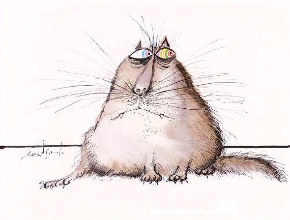 The Original Cartoon Canon of Lolcats: Legendary British Artist Ronald Searle's 1960s Cat Drawings | Brain Pickings
