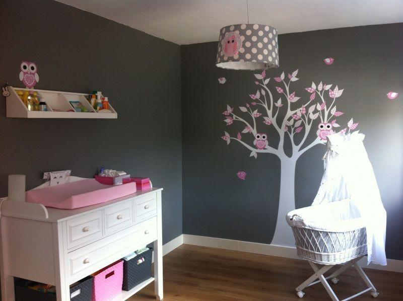 Roze Slaapkamer Lamp : Babykamer van sylvia met lampen uil roze grijs slaapkamer