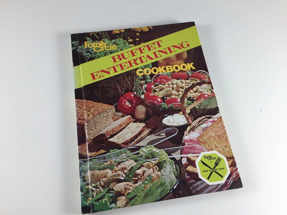 Vintage Cookbook Buffet Entertaining Family Circle Book