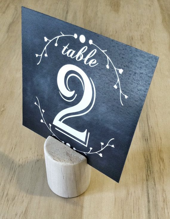 Chalkboard Wedding Table Number Double Sided By Thefindsac 28 00