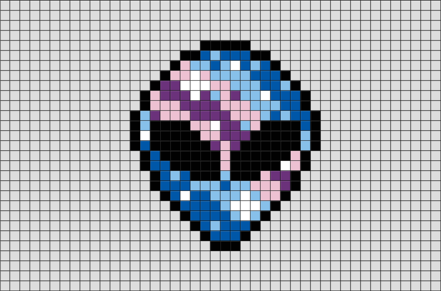 alien pixel art