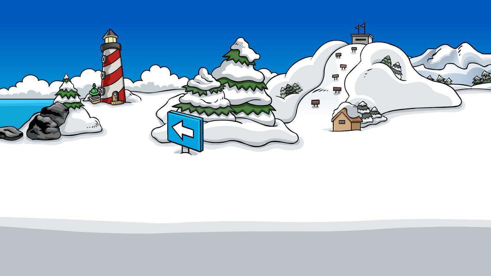 Shell On Twitter Cartoon Background Club Penguin Penguin Wallpaper