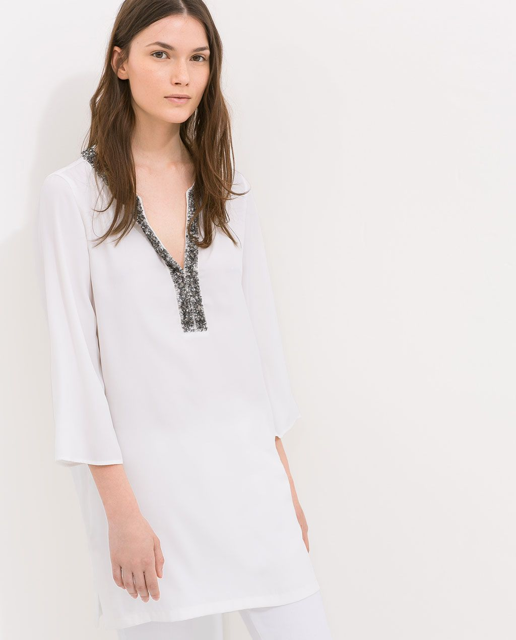 04318c62 Image 2 of SHORT TUNIC WITH EMBROIDERY from Zara | ZARA | Tunic ...