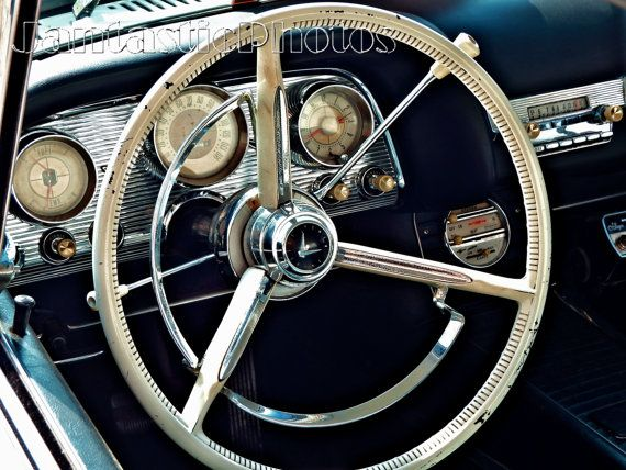 Thunderbird Dashboard photograph classic 1959 Ford T-bird Instant download photo automobile photography vintage dash classic car interior