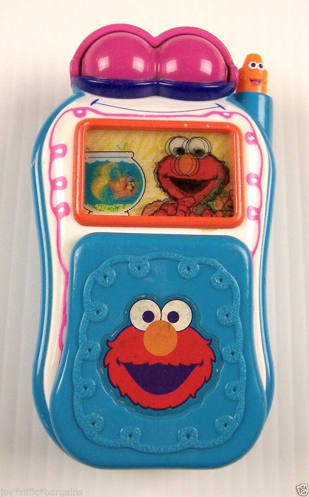 Sesame Street Elmo/'s World Animated Talking Flip Cell Phone Mattel 2002