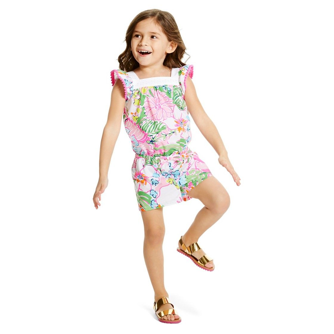 e65347e20a Lilly Pulitzer for Target Infant Toddler Girls  Romper - Nosie Posey ...