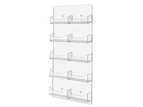 Marketing holders wall business card holder vertical wall mount 10 marketing holders wall business card holder vertical wall mount 10 pocket clear colourmoves