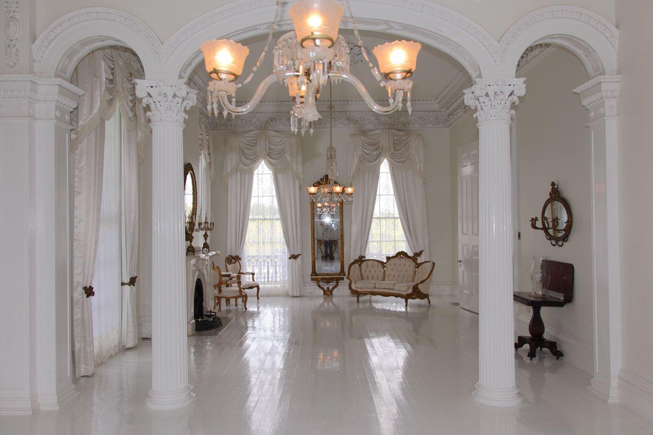 nottoway white ballroom. | antebellum manor | pinterest | interior