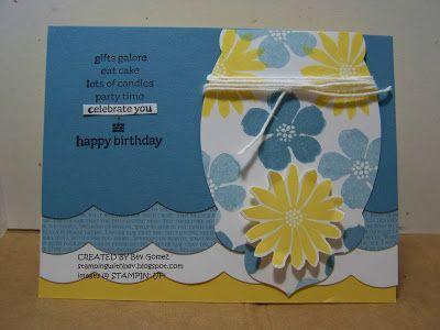SU Secret Garden Birthday Card Stamping With Bev