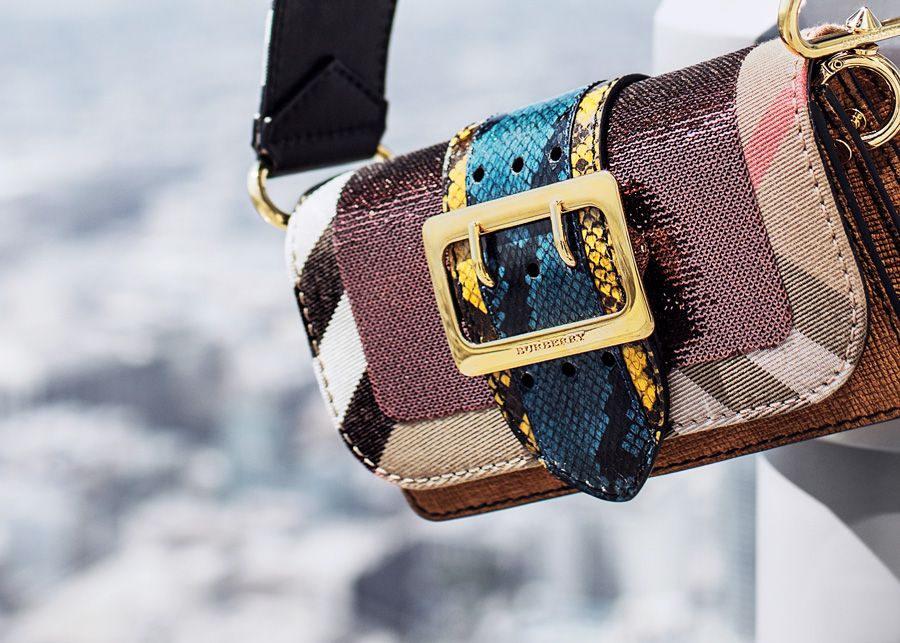 f0b05886f7f2 One-of-a-kind   Burberry Patchwork Bag