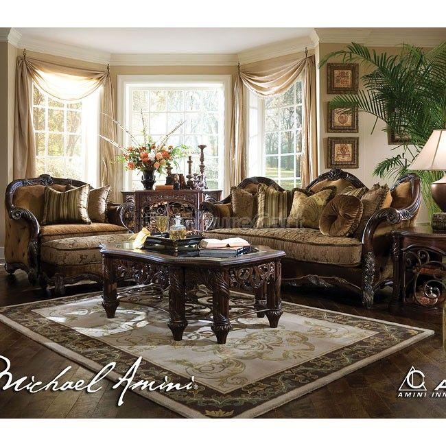 Wustrow Umber Italian Leather Power Reclining Sofa: Essex Manor Living Room Set