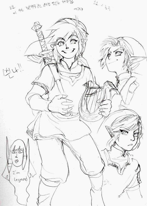 ゼルダの伝説 落書き by Ashen (Corner Zelda is Awesome)