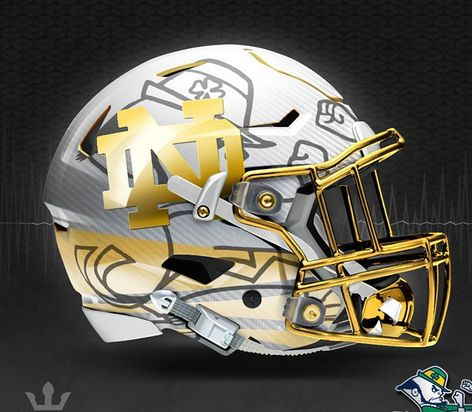 bcefe4406 Notre Dame concept. Notre Dame concept Football Helmet ...