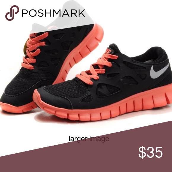 buy popular 7e8e3 ece28 Black & Orange Nike Free Run 2 Sz 7 Reflective Black ...