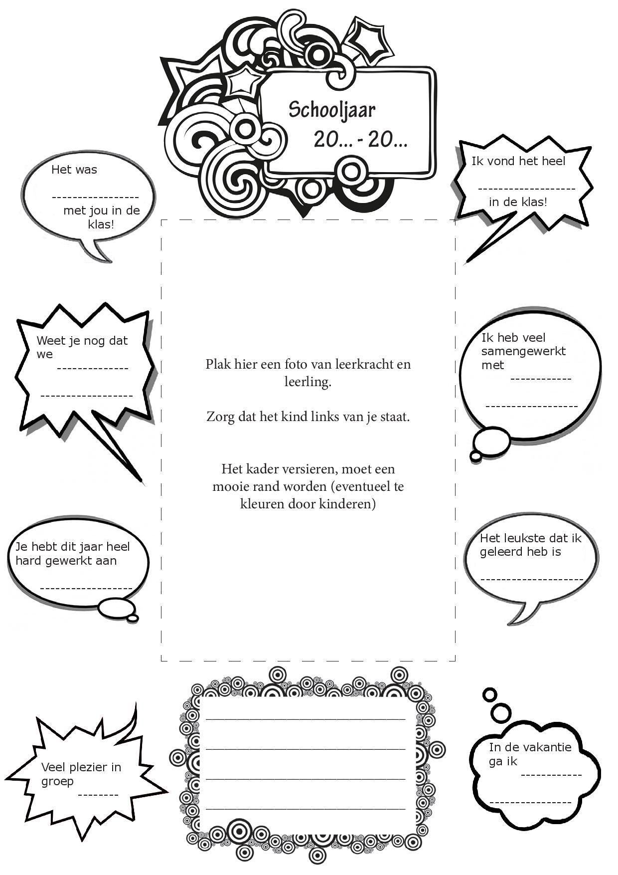 Pin Van Lisanne Verbeek Op School Sociaal Emotioneel School Posters Leraar Waarderen Schoolweek
