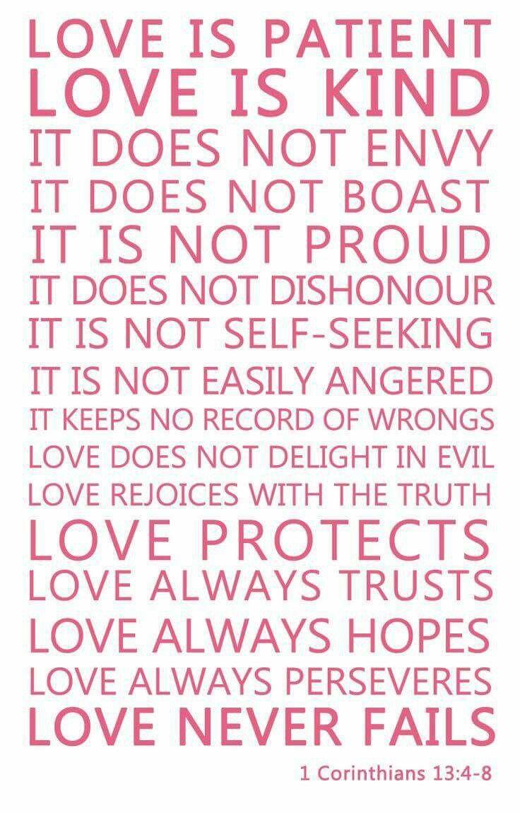 Love 1 Corinthians 13 4 8 Palabras De Amor Amor De Mi Vida Y