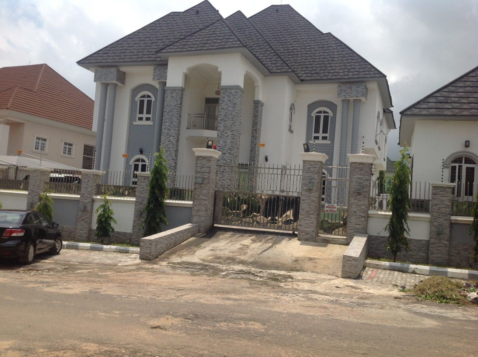 6 bedroom detached mansion in this quiet residential part of gwarinpa abuja realestate property duplex house forsale gwarinpa abuja nigeria