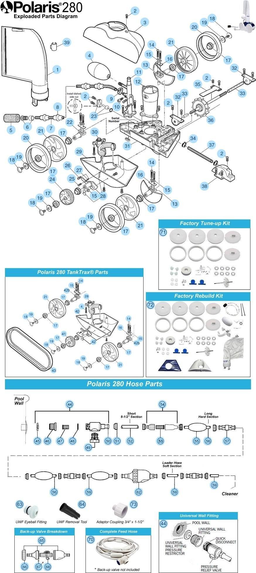 Polaris 280 Pool Cleaner Parts