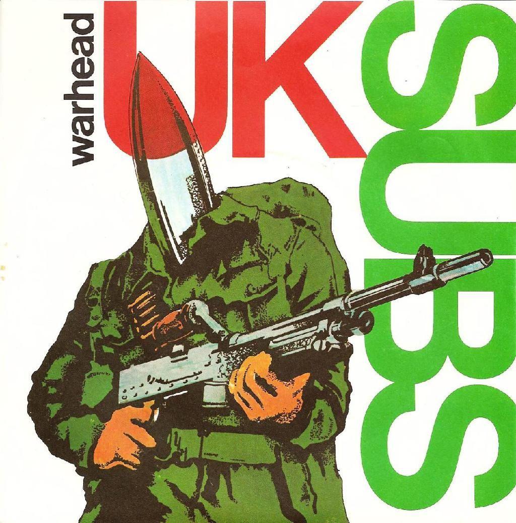 Uk Subs Warhead Single Cover Amp Mine Was Coloured Vinyl