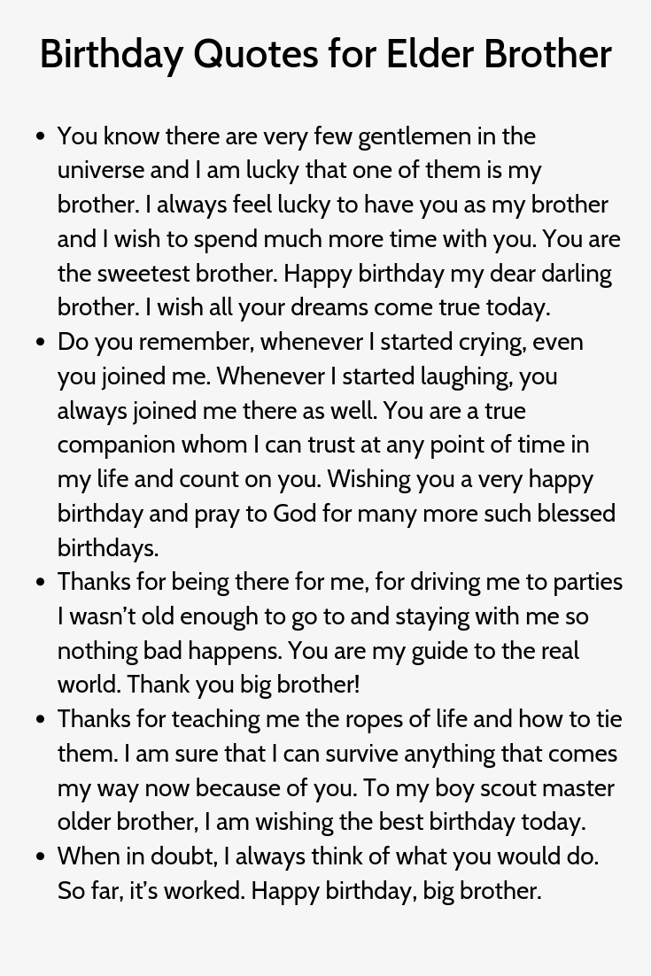Birthday Quotes For Elder Brother Brother Quotes Brother Birthday Quotes Birthday Quotes