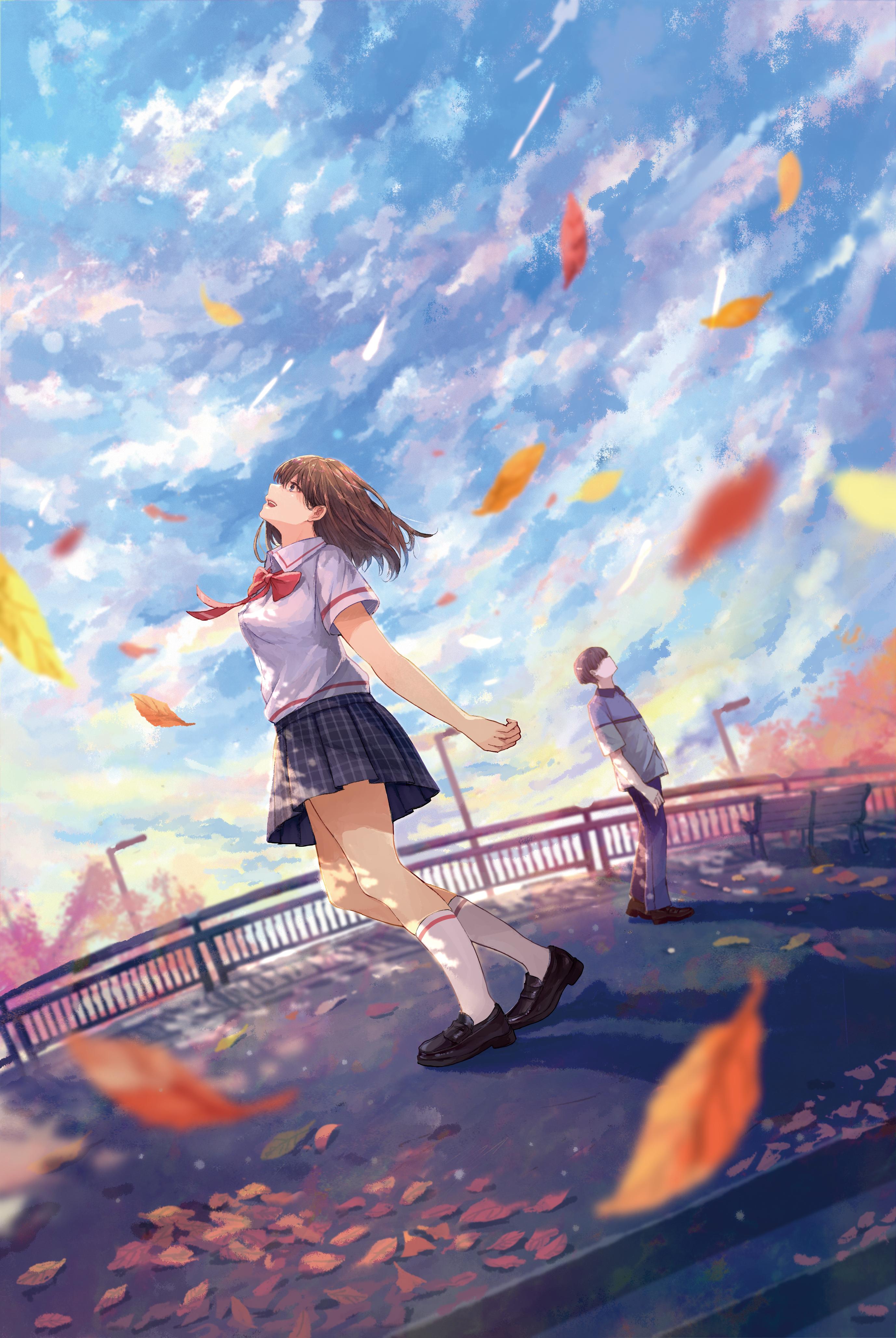 Under The Same Blue Sky きみがいれば空はただ青く Anime Scenery Sky Anime Anime Cupples