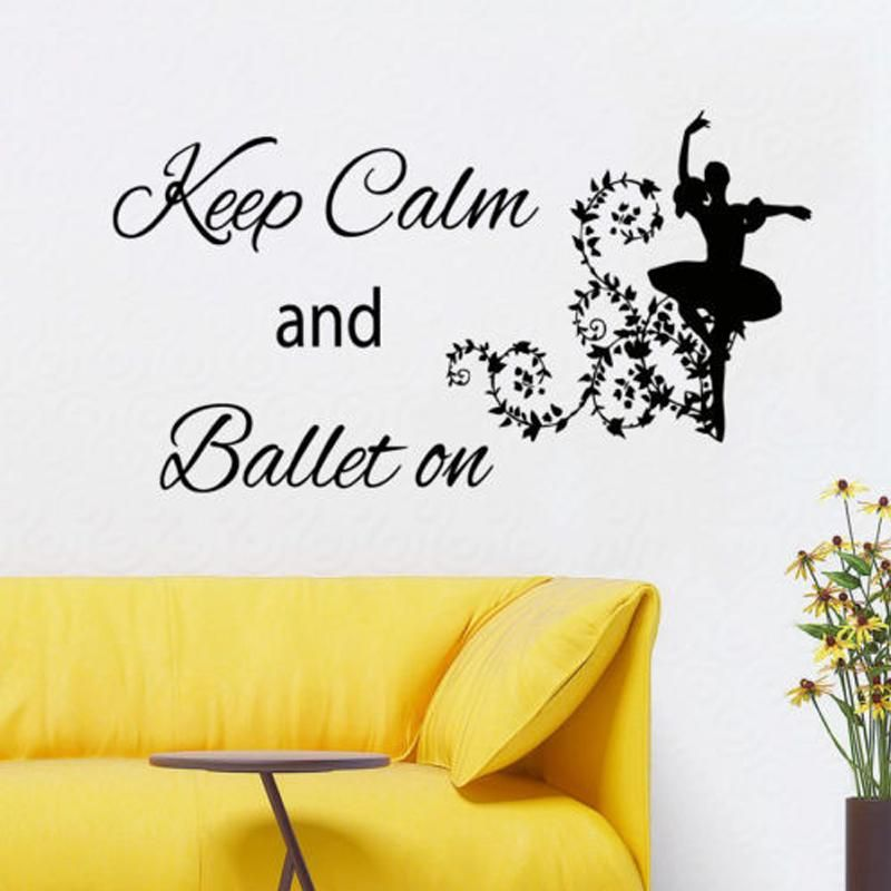 Wall Decals Ballet Quote Ballerina Vinyl Sticker Girl Art Dance ...
