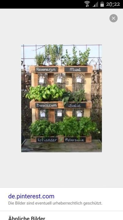 paletten kräutergarten | gartenwerk | pinterest | kräutergarten ... - Umgestaltung Krautergarten Dachterrasse