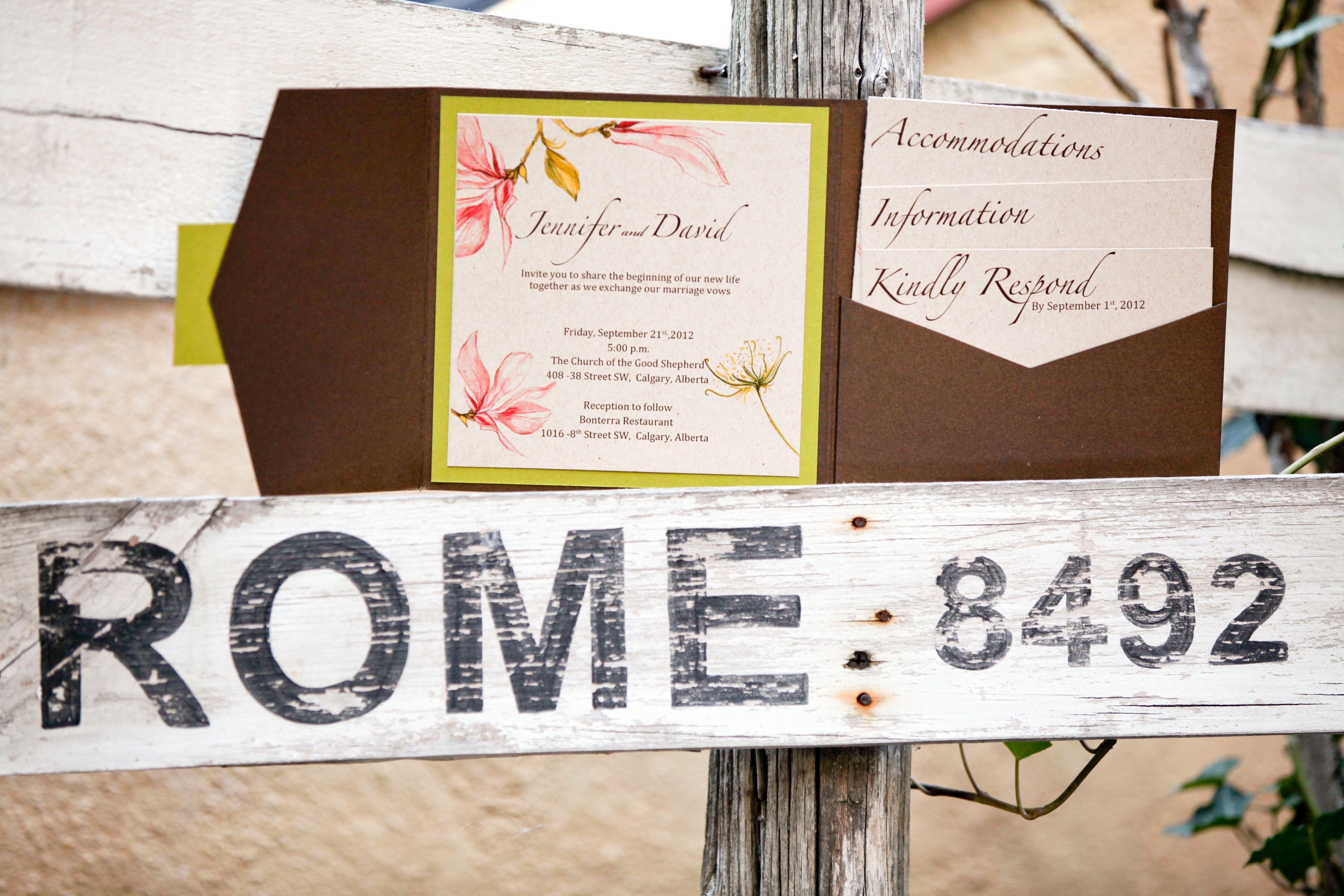 Enriched Events Wedding - Bonterra Calgary  Invitations