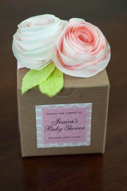 Hecho a mano papel flor regalo cajas/favores para por PetalToTheMax