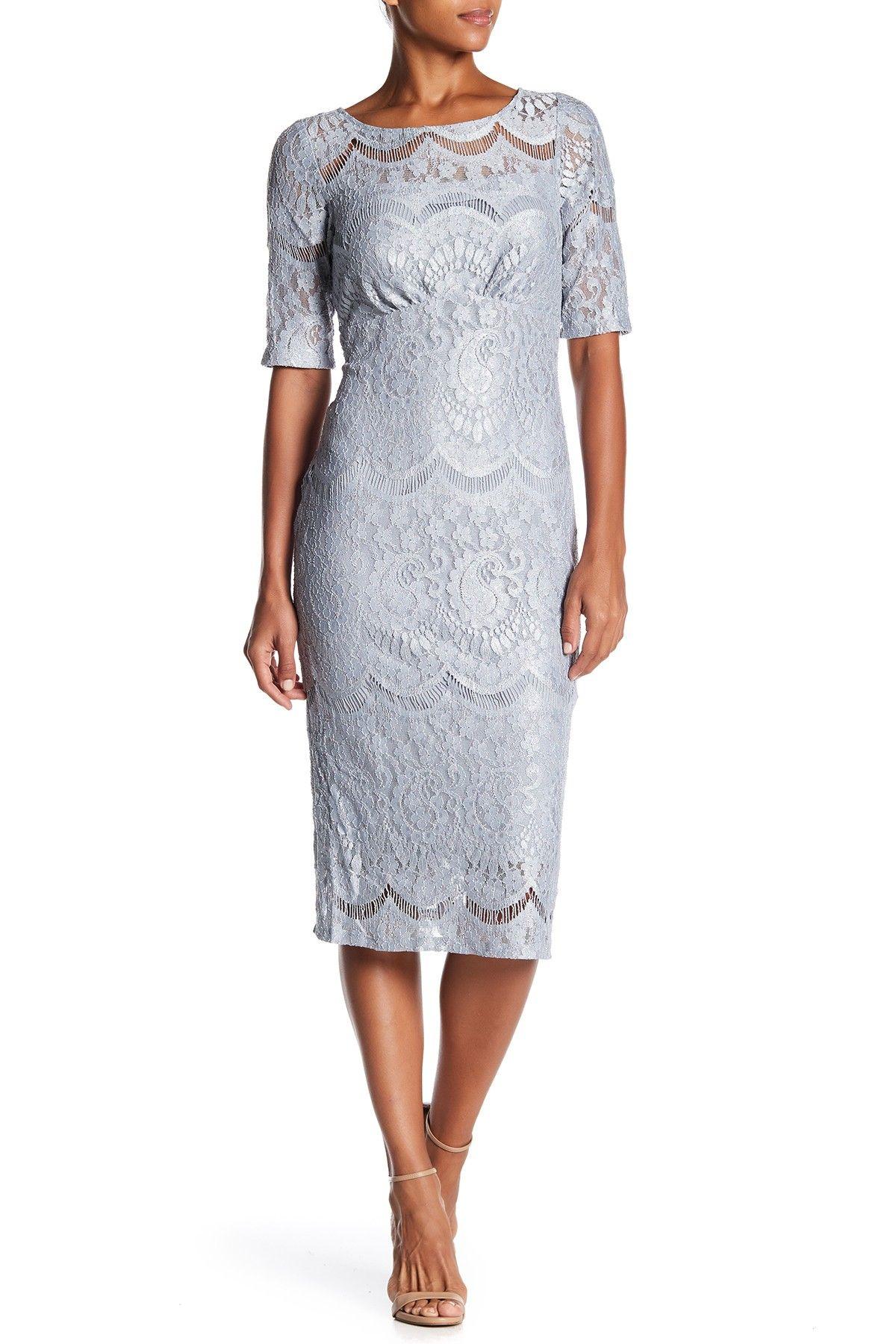 Rabbit Rabbit Rabbit   Metallic Foil Lace Dress   Lace dress