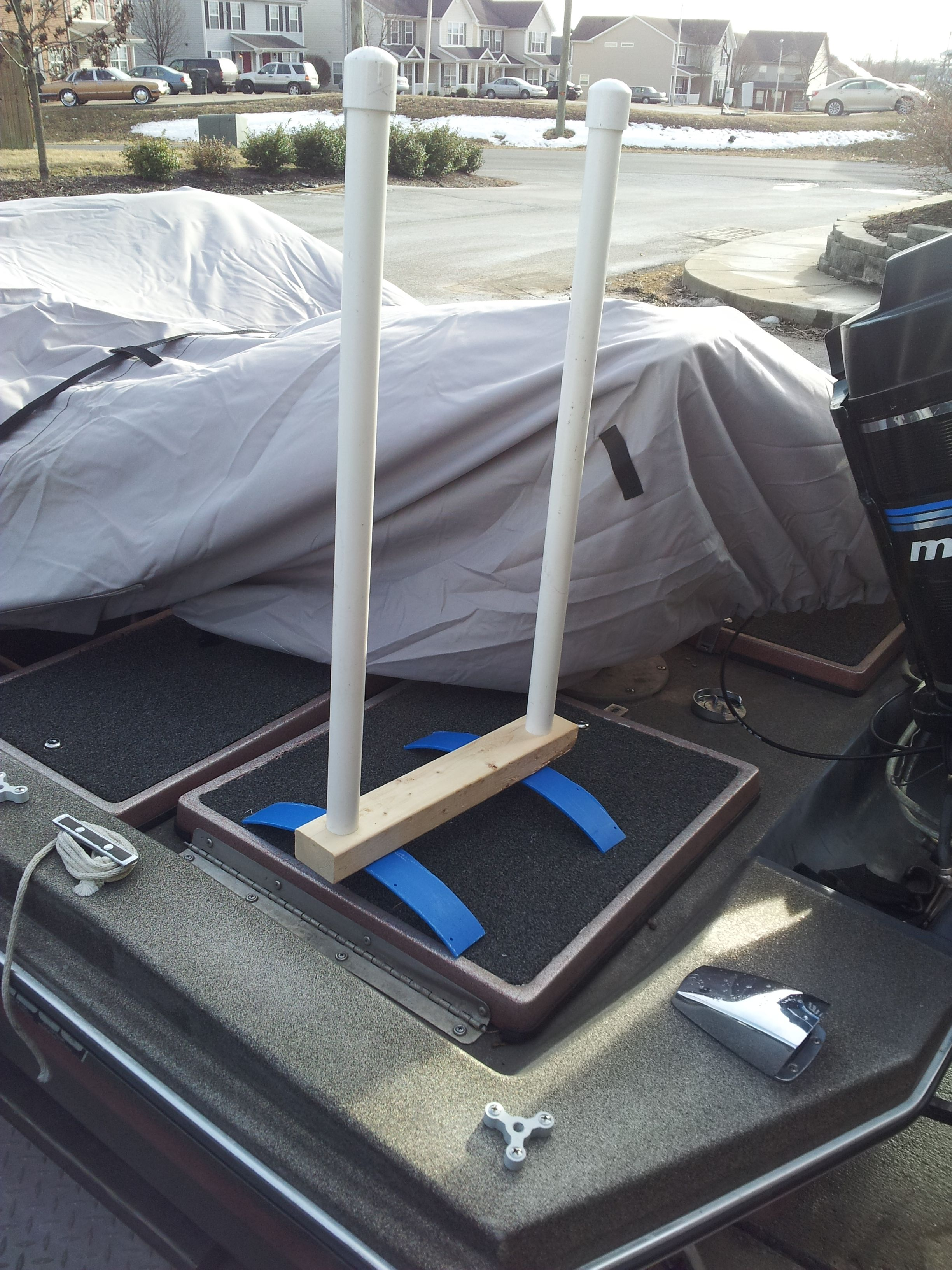 Easy & Inexpensive Boat Cover Support | Boat cover support, Boat covers, Pontoon boat covers