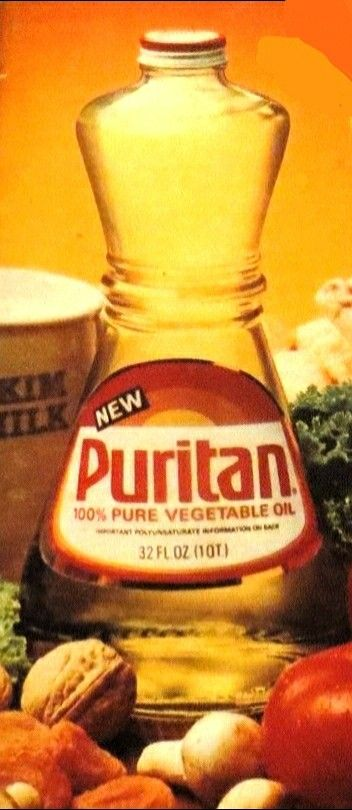 Puritan Vegetable Oil (Canola Oil) bottle (2nd to Crisco ...