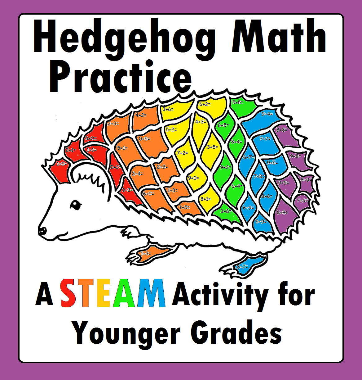Hedgehog Hedgie S Math Addition Steam Stem Worksheet For