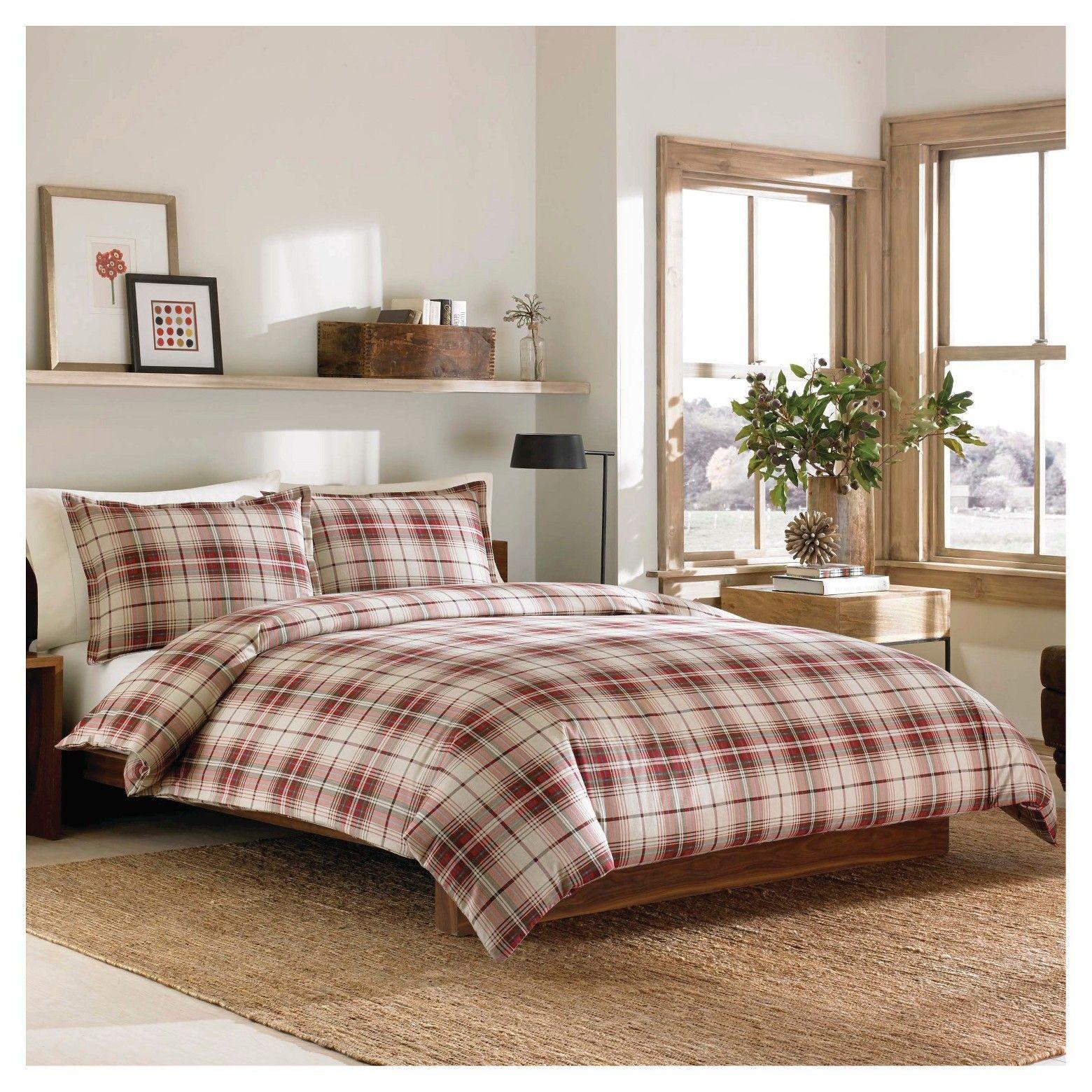 Eddie Bauer Montlake Plaid Flannel Duvet Cover Mini Set Red King Target Duvet Sets Flannel Duvet Cover Plaid Comforter