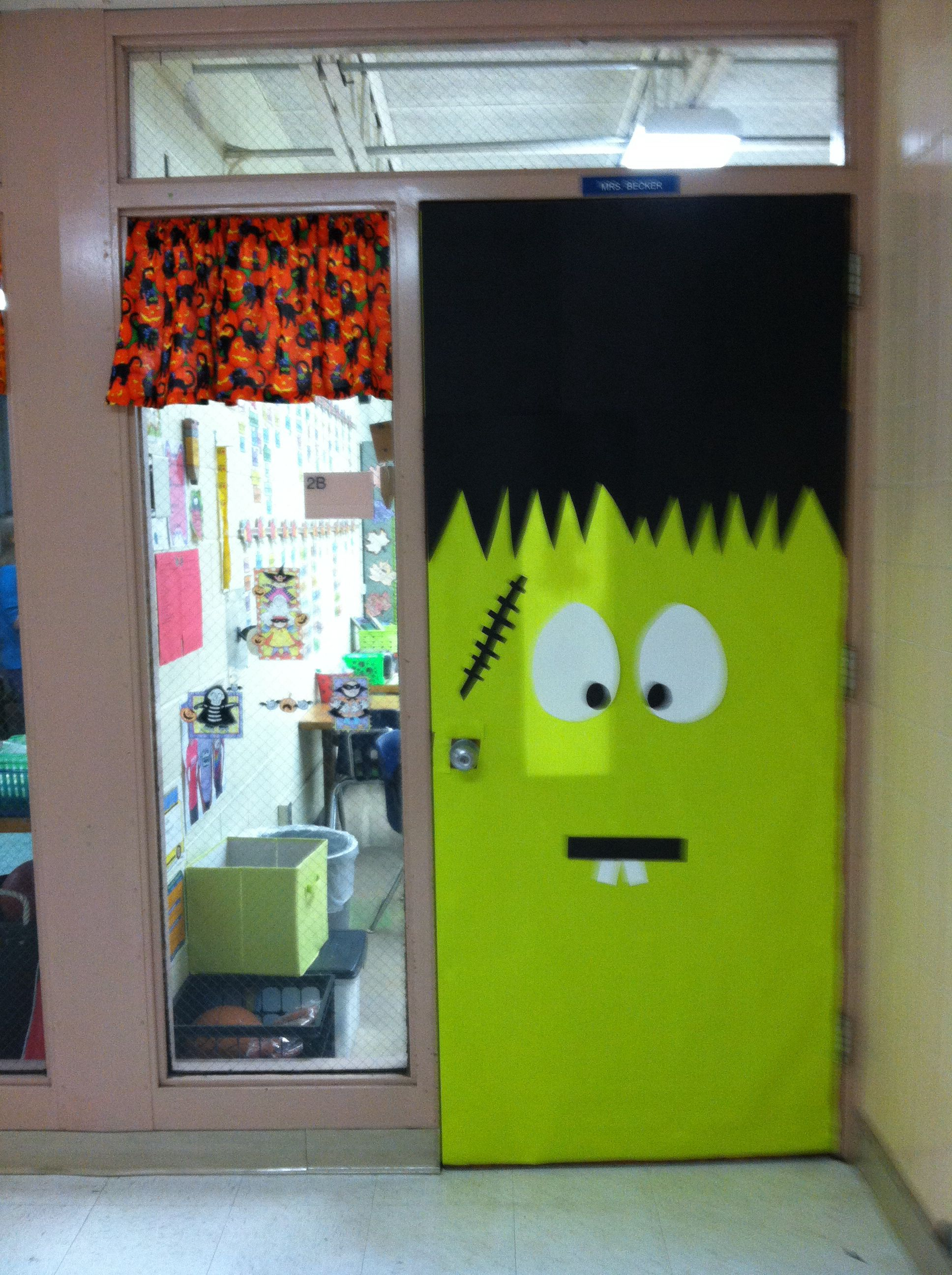 Classroom door or front door for Halloween Classroom Halloween - Halloween Classroom Door Decorations