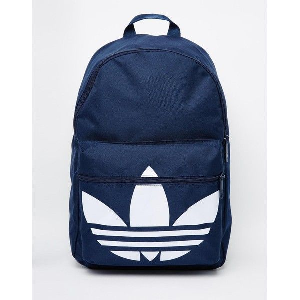 adidas Originals Classic Backpack (45 AUD) ❤ liked on Polyvore featuring  men s fashion, men s bags, men s backpacks and blue 19c568a220