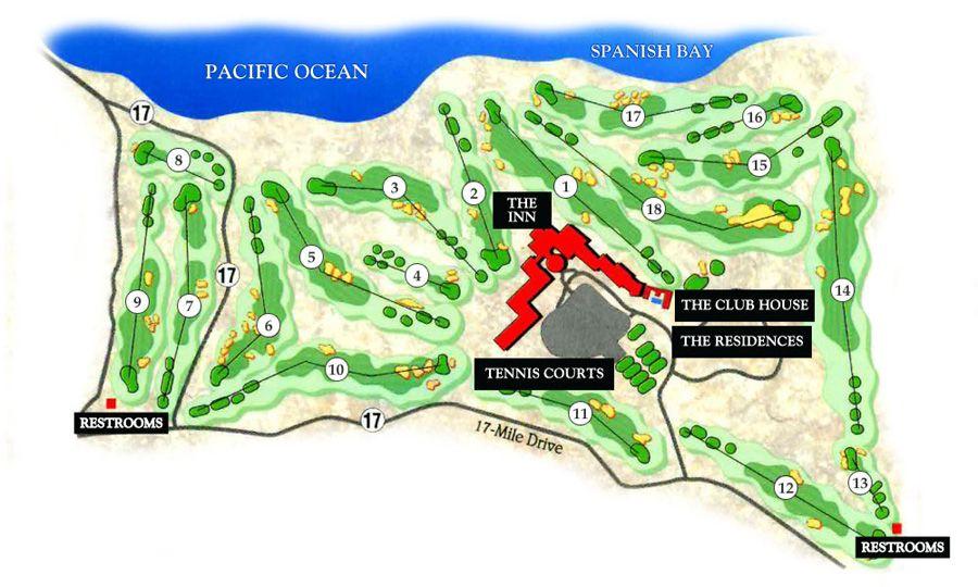 Golf Course Map Pebble Beach California Google Search
