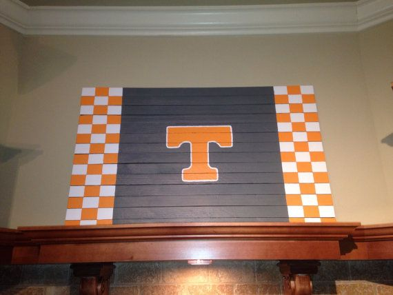 Homemade Tennessee Vols Wall Art By Tnwoodart On Etsy
