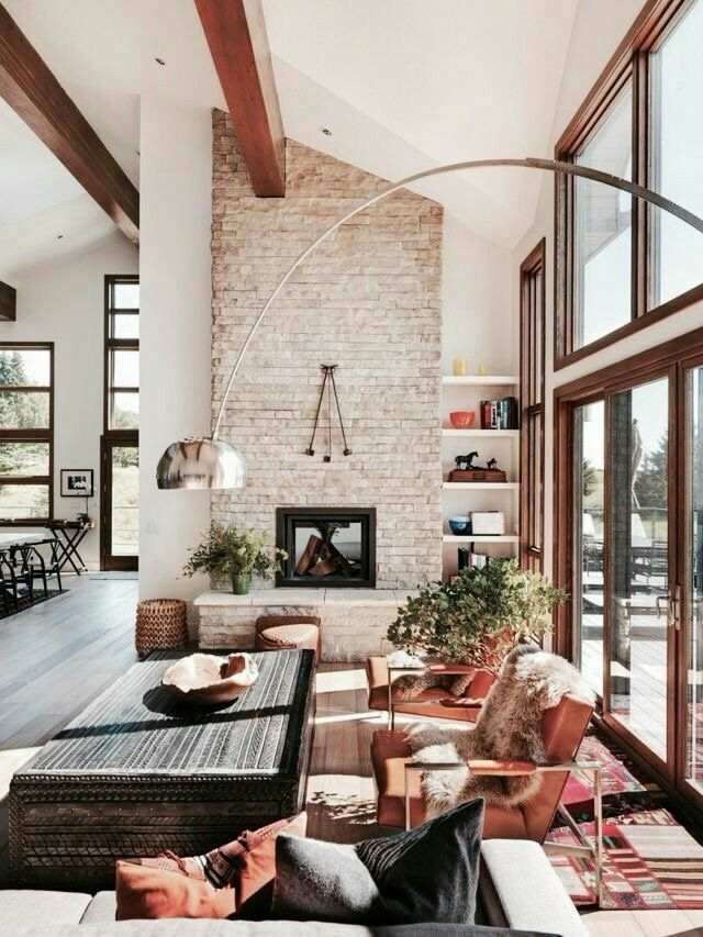Love The Scandinavian Boho Style Western Living Room Decor Modern House Design Home