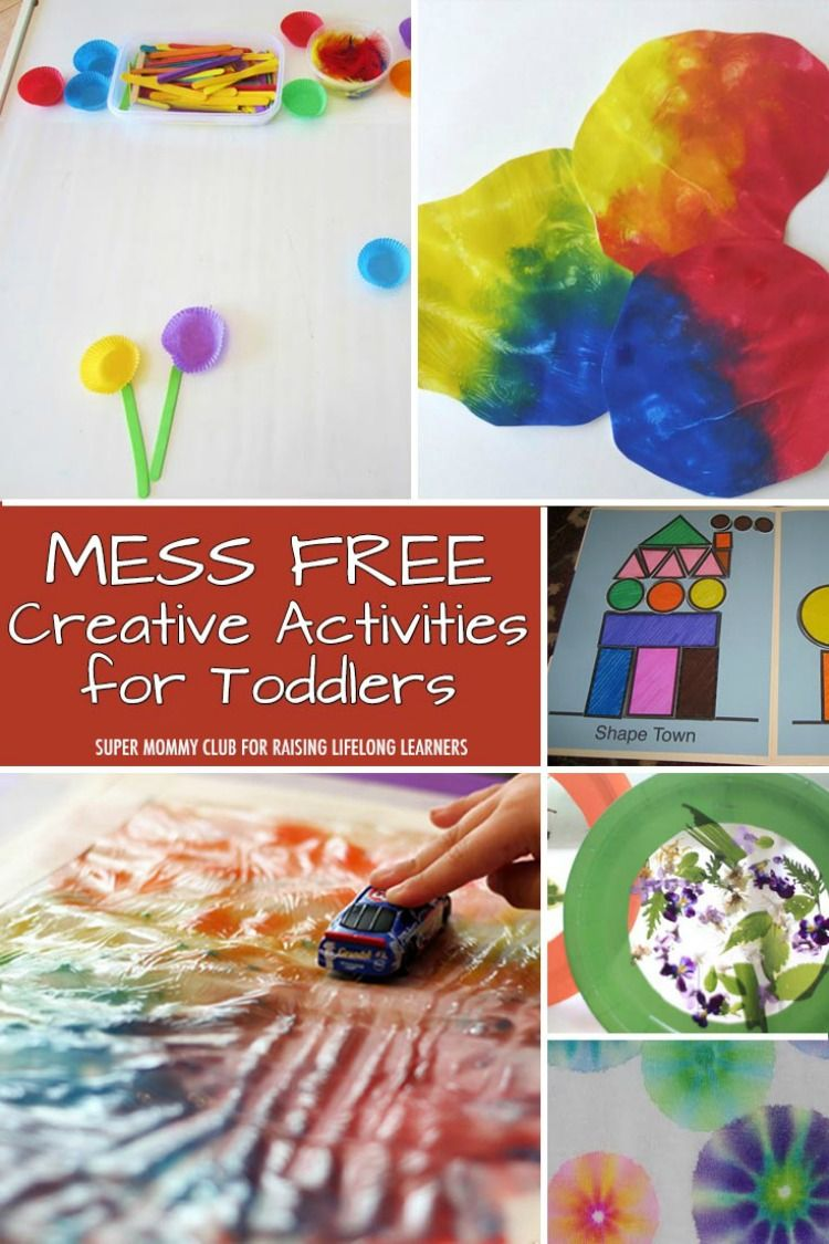 8 Mess Free Creative Activities For Toddlers Kool Toddler Ideas