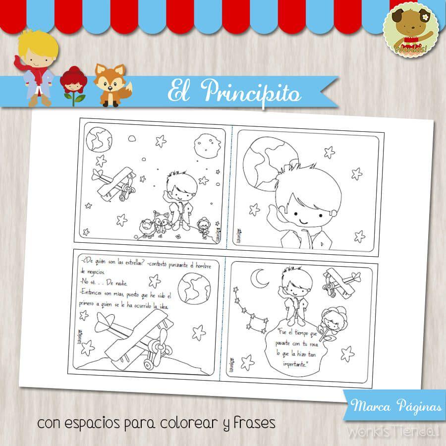El Principito Cuaderno Para Colorear Con Imagenes Libro De