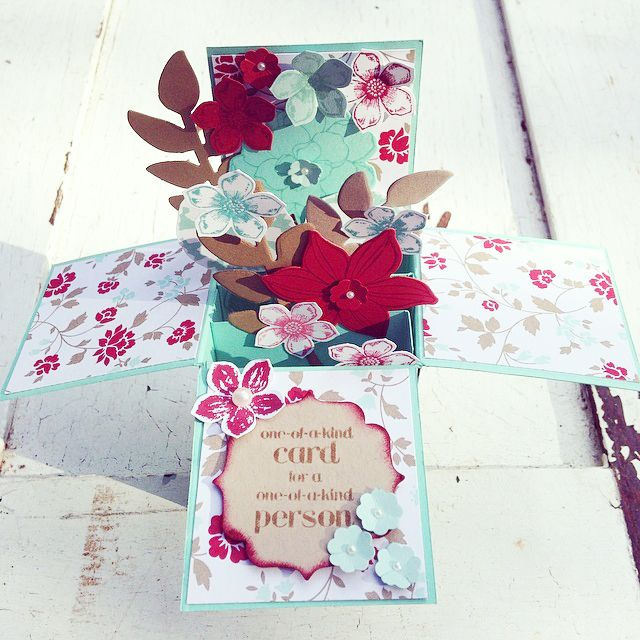 Card in a Box - Stampin' Up Demonstrator - Daneve Frankish