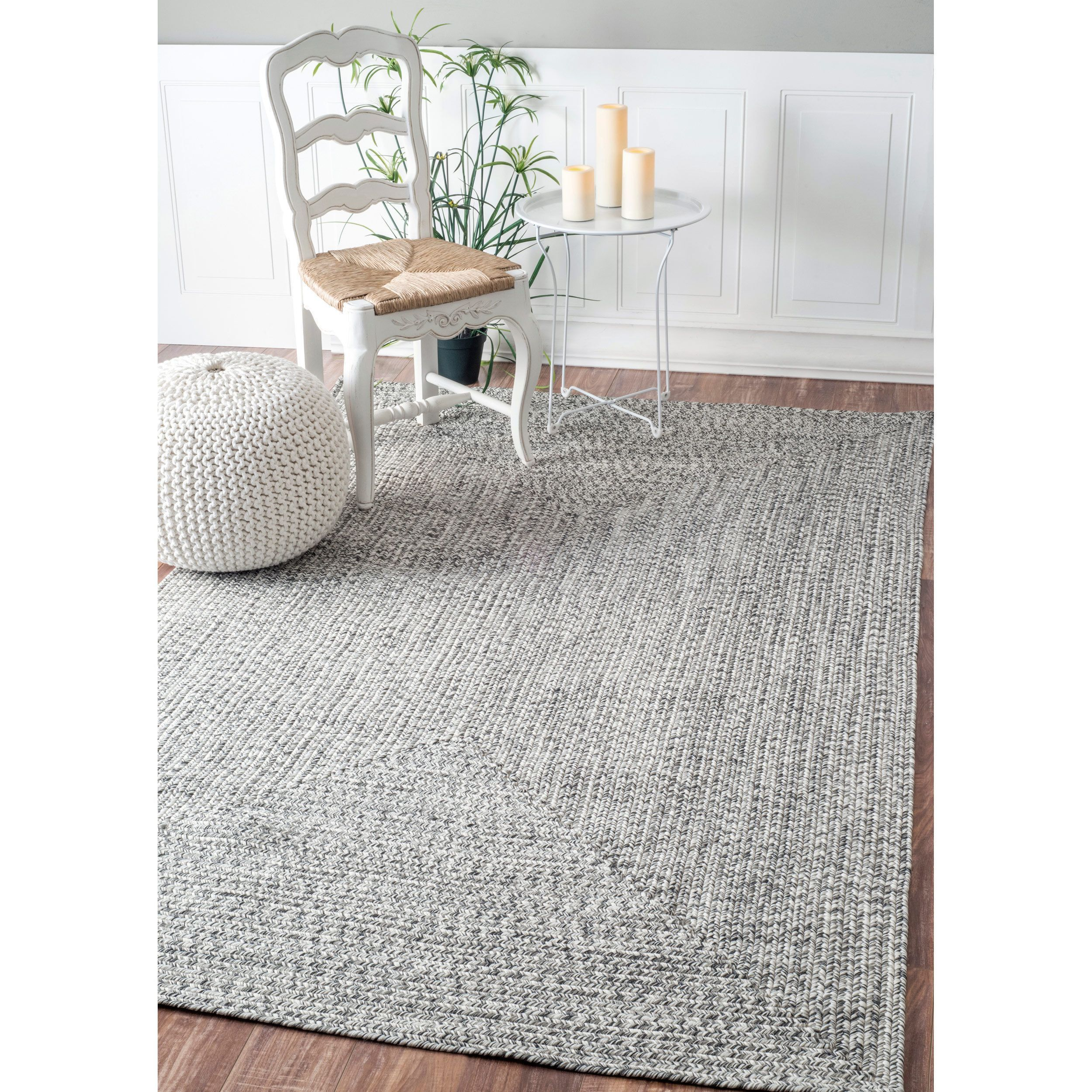 Nuloom Handmade Casual Solid Braided Indoor Outdoor Rug 3 X 5