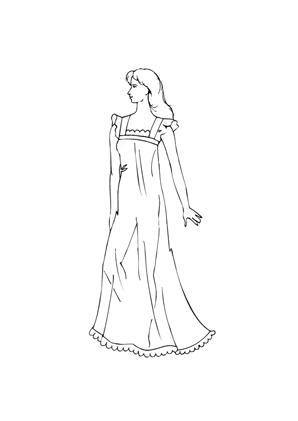 ausmalbild model im langen abendkleid zum ausmalen. ausmalbilder   malvorlagen   models  
