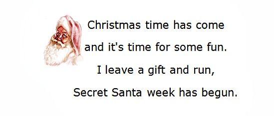 Secret Santa Poems, Clever Sayings Secret Santa Secret santa
